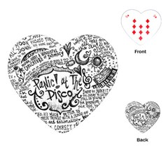 Panic! At The Disco Lyric Quotes Playing Cards (heart)  by Samandel