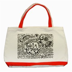 Panic! At The Disco Lyric Quotes Classic Tote Bag (red) by Samandel