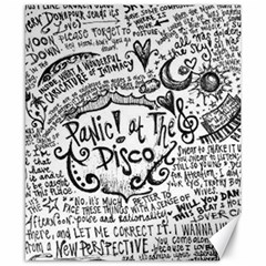 Panic! At The Disco Lyric Quotes Canvas 8  X 10  by Samandel