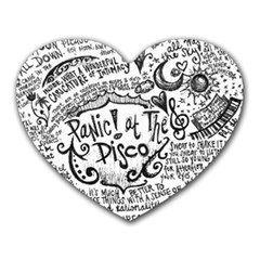 Panic! At The Disco Lyric Quotes Heart Mousepads by Samandel