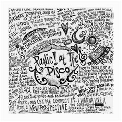 Panic! At The Disco Lyric Quotes Medium Glasses Cloth by Samandel