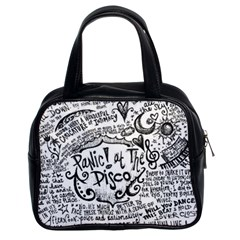 Panic! At The Disco Lyric Quotes Classic Handbags (2 Sides) by Samandel