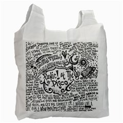 Panic! At The Disco Lyric Quotes Recycle Bag (one Side) by Samandel