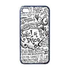 Panic! At The Disco Lyric Quotes Apple Iphone 4 Case (black) by Samandel