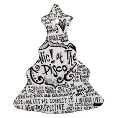 Panic! At The Disco Lyric Quotes Ornament (christmas Tree)  by Samandel