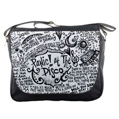 Panic! At The Disco Lyric Quotes Messenger Bags by Samandel