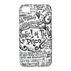 Panic! At The Disco Lyric Quotes Apple Iphone 4/4s Hardshell Case With Stand by Samandel