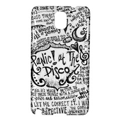 Panic! At The Disco Lyric Quotes Samsung Galaxy Note 3 N9005 Hardshell Case by Samandel