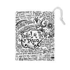 Panic! At The Disco Lyric Quotes Drawstring Pouches (large)  by Samandel
