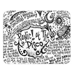 Panic! At The Disco Lyric Quotes Double Sided Flano Blanket (large)  by Samandel