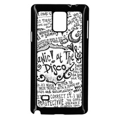 Panic! At The Disco Lyric Quotes Samsung Galaxy Note 4 Case (black) by Samandel