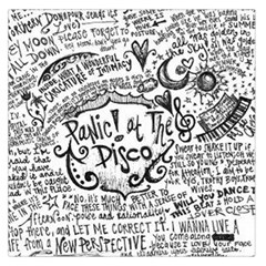 Panic! At The Disco Lyric Quotes Large Satin Scarf (square) by Samandel
