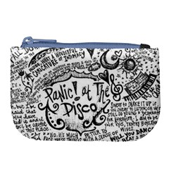 Panic! At The Disco Lyric Quotes Large Coin Purse by Samandel