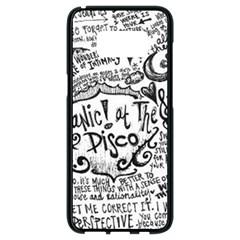 Panic! At The Disco Lyric Quotes Samsung Galaxy S8 Black Seamless Case
