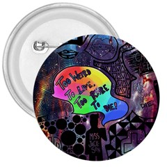 Panic! At The Disco Galaxy Nebula 3  Buttons