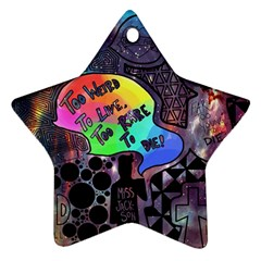 Panic! At The Disco Galaxy Nebula Ornament (star) by Samandel
