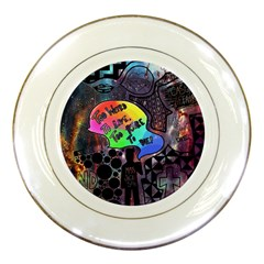 Panic! At The Disco Galaxy Nebula Porcelain Plates by Samandel