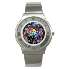 Panic! At The Disco Galaxy Nebula Stainless Steel Watch by Samandel