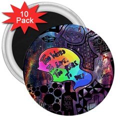 Panic! At The Disco Galaxy Nebula 3  Magnets (10 Pack)