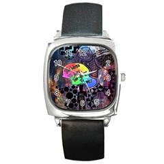 Panic! At The Disco Galaxy Nebula Square Metal Watch by Samandel