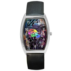 Panic! At The Disco Galaxy Nebula Barrel Style Metal Watch by Samandel