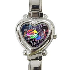 Panic! At The Disco Galaxy Nebula Heart Italian Charm Watch by Samandel