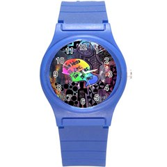 Panic! At The Disco Galaxy Nebula Round Plastic Sport Watch (s) by Samandel