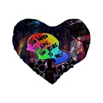 Panic! At The Disco Galaxy Nebula Standard 16  Premium Heart Shape Cushions Front