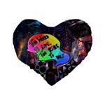 Panic! At The Disco Galaxy Nebula Standard 16  Premium Heart Shape Cushions Back