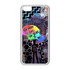 Panic! At The Disco Galaxy Nebula Apple Iphone 5c Seamless Case (white) by Samandel
