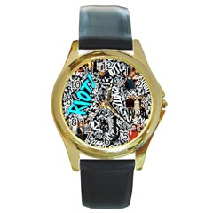 Panic! At The Disco College Round Gold Metal Watch by Samandel