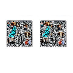 Panic! At The Disco College Cufflinks (square)