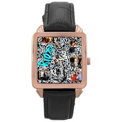 Panic! At The Disco College Rose Gold Leather Watch