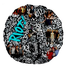 Panic! At The Disco College Large 18  Premium Flano Round Cushions by Samandel