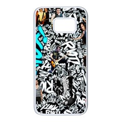 Panic! At The Disco College Samsung Galaxy S7 White Seamless Case by Samandel