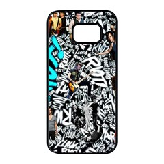 Panic! At The Disco College Samsung Galaxy S7 Edge Black Seamless Case by Samandel