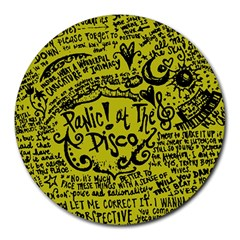 Panic! At The Disco Lyric Quotes Round Mousepads by Samandel