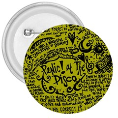 Panic! At The Disco Lyric Quotes 3  Buttons by Samandel