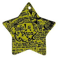 Panic! At The Disco Lyric Quotes Ornament (star) by Samandel