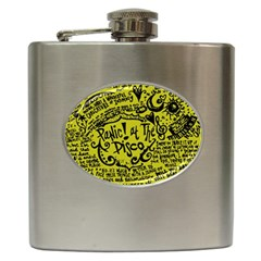Panic! At The Disco Lyric Quotes Hip Flask (6 Oz) by Samandel