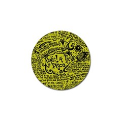 Panic! At The Disco Lyric Quotes Golf Ball Marker (10 Pack) by Samandel