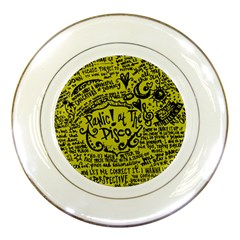 Panic! At The Disco Lyric Quotes Porcelain Plates by Samandel