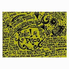 Panic! At The Disco Lyric Quotes Large Glasses Cloth by Samandel