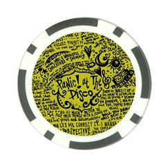 Panic! At The Disco Lyric Quotes Poker Chip Card Guard by Samandel