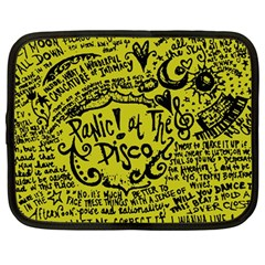 Panic! At The Disco Lyric Quotes Netbook Case (large) by Samandel