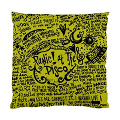 Panic! At The Disco Lyric Quotes Standard Cushion Case (two Sides) by Samandel