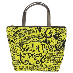 Panic! At The Disco Lyric Quotes Bucket Bags by Samandel