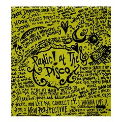 Panic! At The Disco Lyric Quotes Shower Curtain 66  X 72  (large)  by Samandel