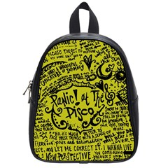 Panic! At The Disco Lyric Quotes School Bag (small) by Samandel
