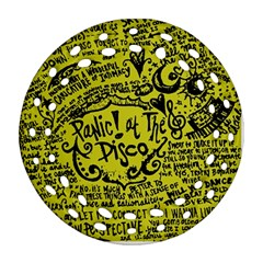 Panic! At The Disco Lyric Quotes Ornament (round Filigree) by Samandel